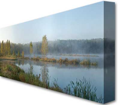Personalized Panoramic wall art from siters photos