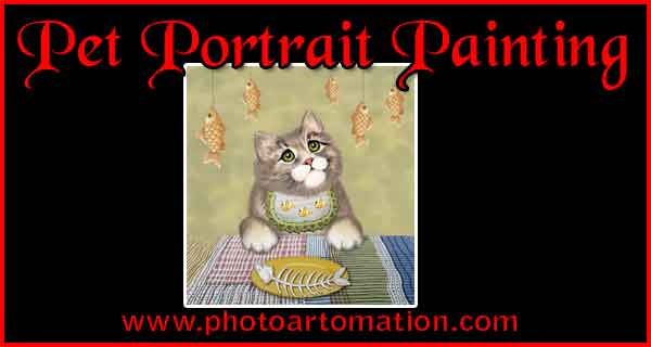Custom painting from photo, pet, dog, cat portraits