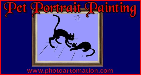 Pet photo 2 custom portrait painting