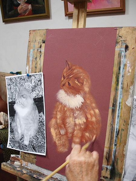 Custom hand oil painted pet portraits, dog, cat