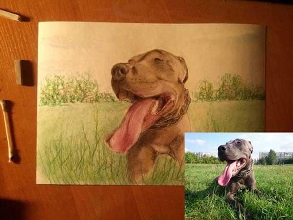 How to oil paint pet, dog, cat portraits
