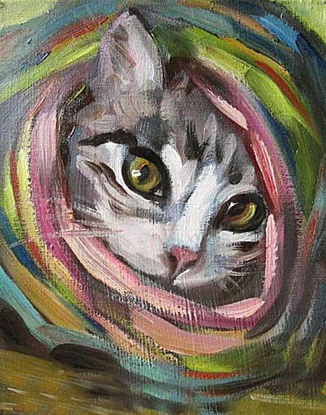 DIYpaint your pet examples, portrait cost