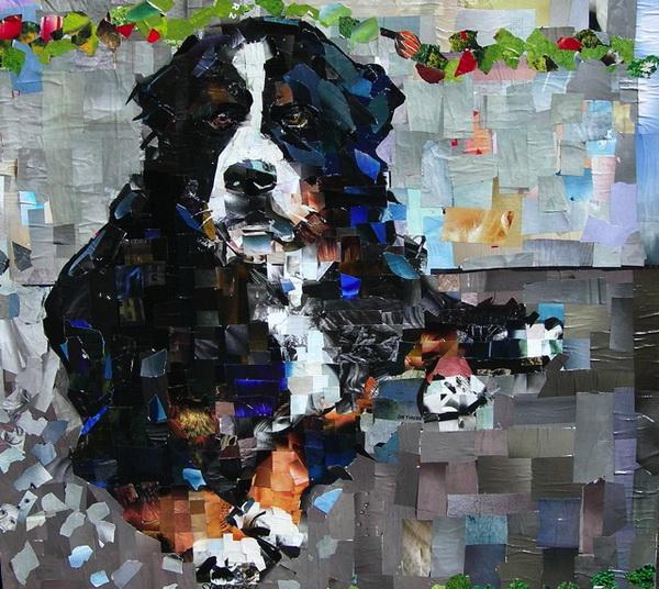 Custom cat dog pet portrait oil painting