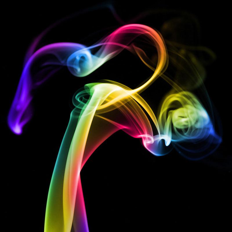 Vivid Colored Smoke – modern abstract, fine art, canvas print, framed art