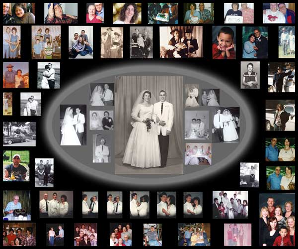 ... Collage: 25th Anniversary Collage - Gift Ideas for Mother and Father