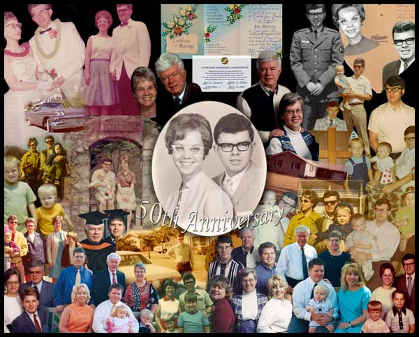 Photo collage th anniversary gift ideas for
