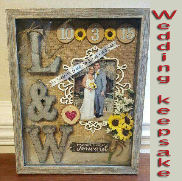 Personalized Wedding keepsake for anniversary couple