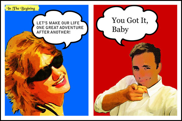 = Personalized Pop Art as a creative anniversary gift from husband to wife