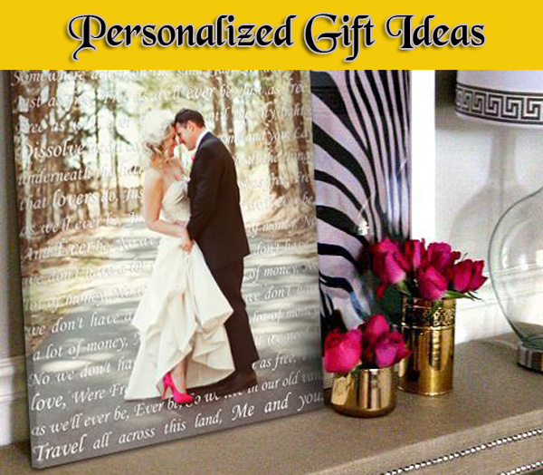 Personalized 1st, 2nd, 3rd, 4th, 5th  wedding anniversary gift ideas
