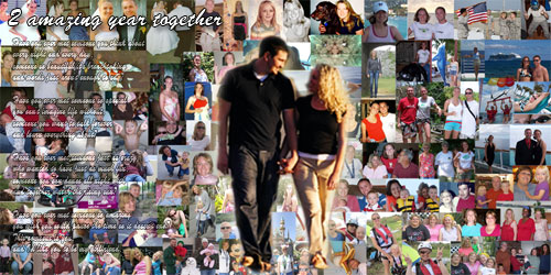 Anniversary photo collage as a gift for boyfriend, girlfriend, husband, wife