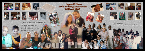 Happy 20 year wedding anniversary gift ideas for parents photomontage for 23rd, 24th