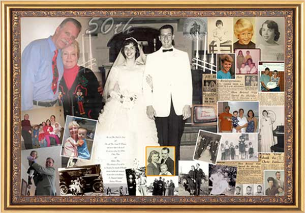 50th wedding anniversary photo gift ideas for mom and dad