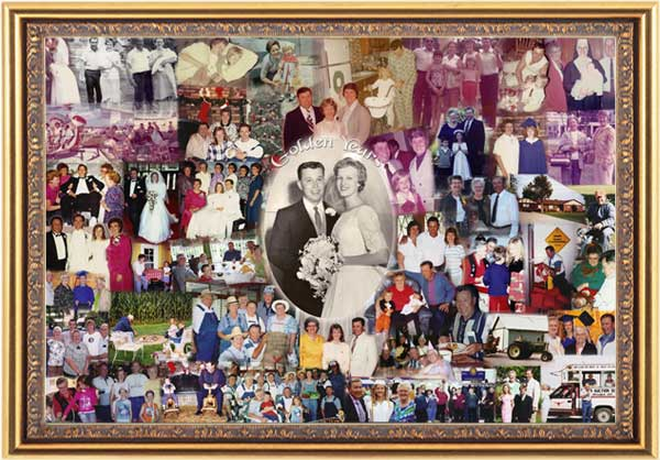 50th parents wedding anniversary gift-collage
