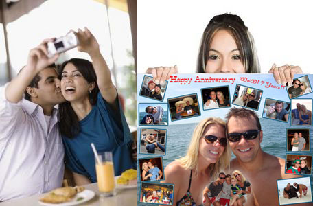 Personalized Wedding anniversary gifts for husband- photo collage