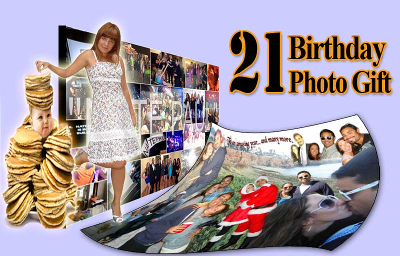 Creative 21st birthday photo gift for boyfriend turning 21, good for Christmas and Valentines Day