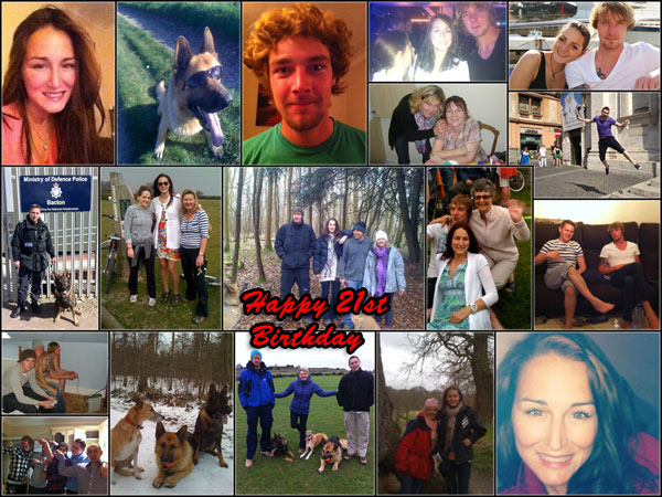 Surprise 21st birthday message-collage for boyfriend