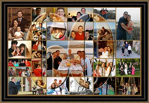 Creative 30th, 40th, 50th, 60th 70th birthday photo collage ideas for dad