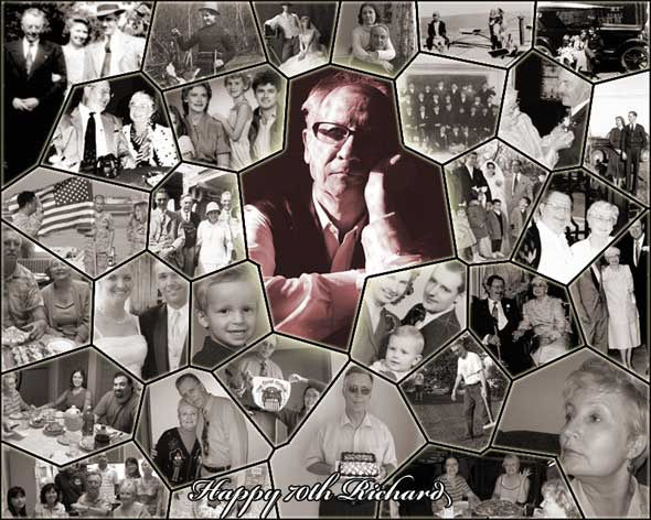 Memorable 75th birthday collage ideas for dad