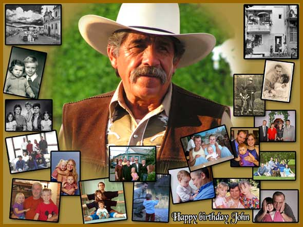 Cute 65th birthday photocollage, gift ideas for father