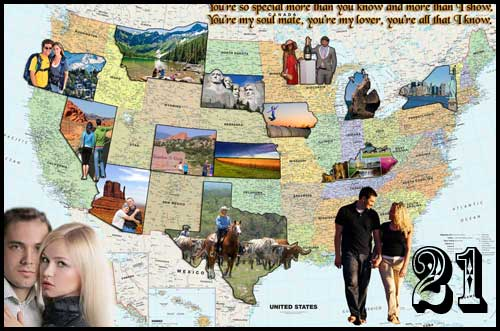 Great birthday gifts to give your girlfriend – travel map photo collage