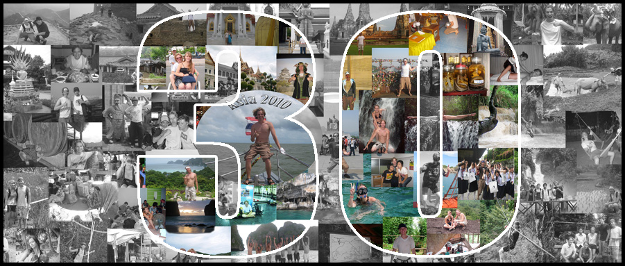 Memorable 30th birthday panoramic photo collage for husband turning 30