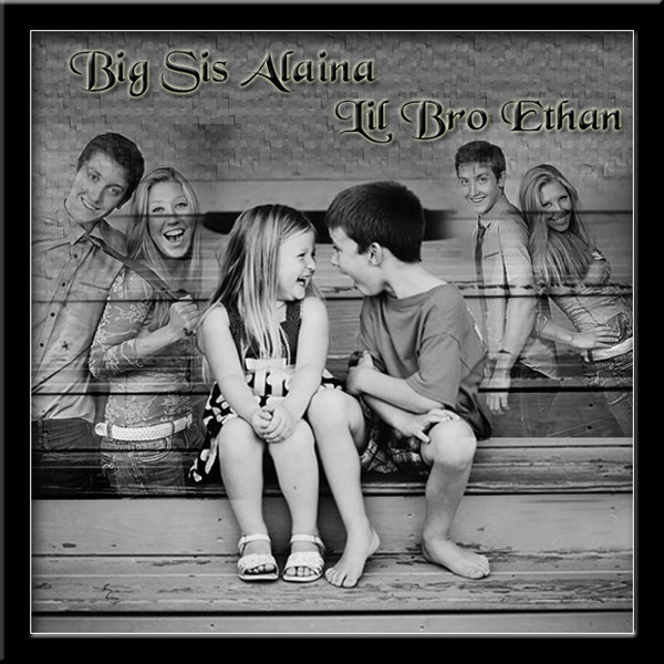 Personalized gift for big sister. Black and white birthday custom photo collage
