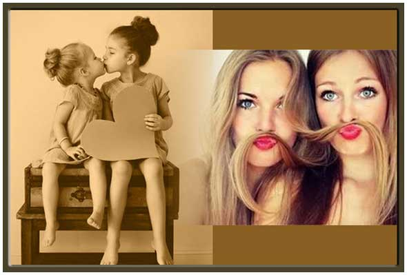 Surprise gift for twin sisters 20th, 23rd birthday, e-card
