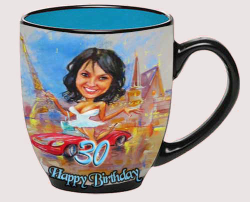 Special gift for older sister turning 30, birthday, personal coffee cup
