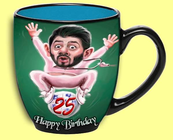 25 year old coffee cup to brother on his birthday 25th birthday