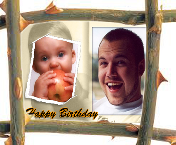 SBirthday photo gift for 25 year old brother, custom frame