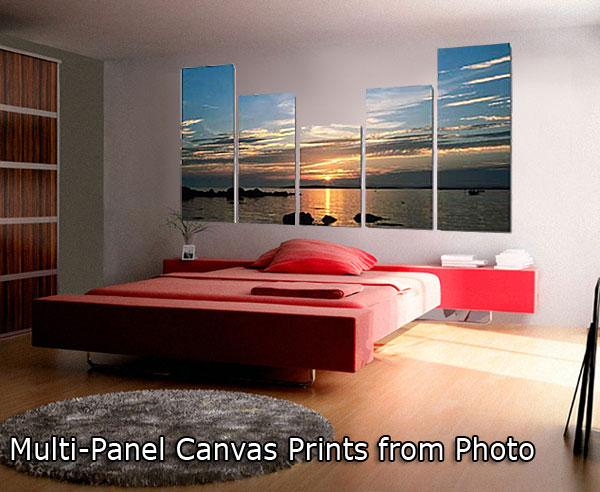 Multi-Panel Canvas Prints - Clusters and Splits wall decoration