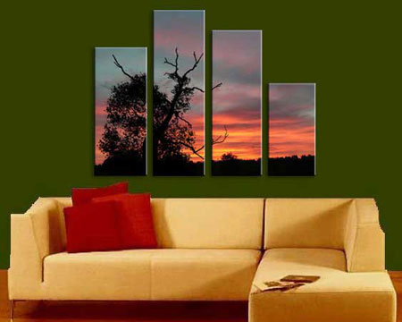 Multi-Panel Wall Art - Split one photo into four panels