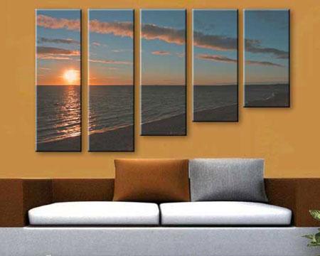 5-piece Canvas Set - Split one photo into five panels