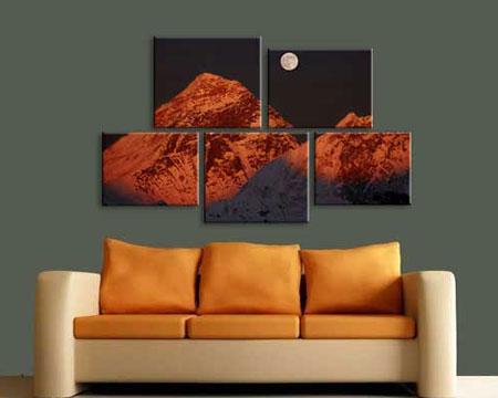 5 panels canvas split