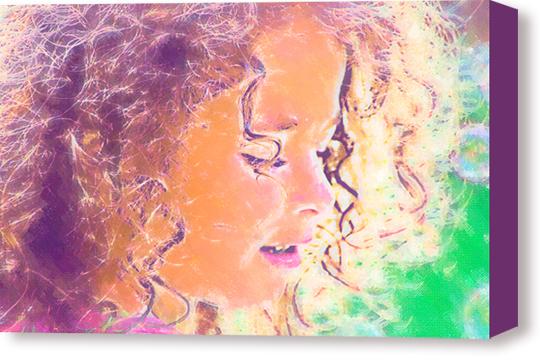 Children Portrait Painting on Canvas