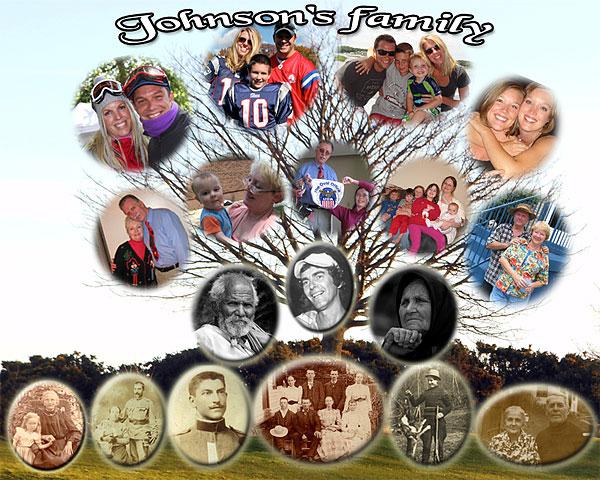 Family Photo Art Tree Collage