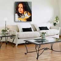 Portrait painting wall decoration