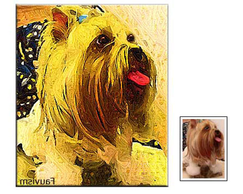Custom Pet Portrait Painting from Photo