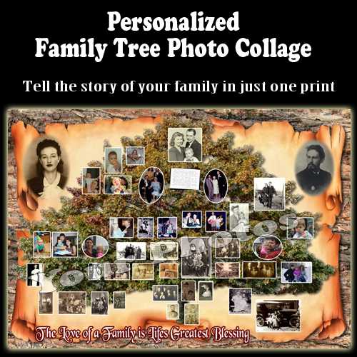 anniversary gift for parents who have everything - Family Tree Photo Collage