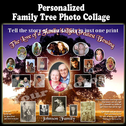 Personalizedanniversary gift - Tell the story of your family in just one print