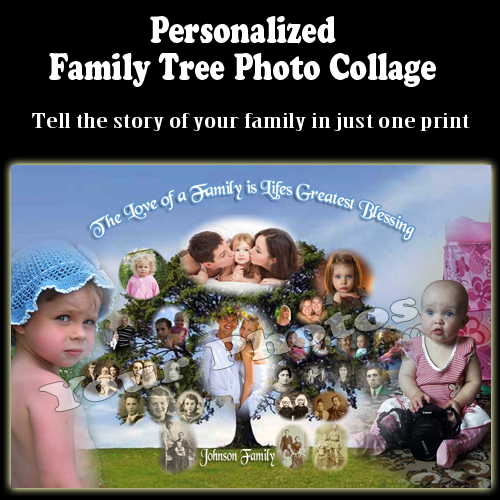 Family Tree Photo Collages