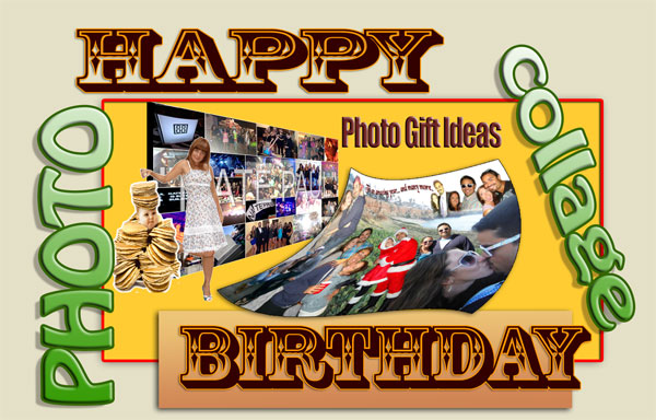 25th Birthday Photo Collage Examples as a Gift for Her and His B-Day