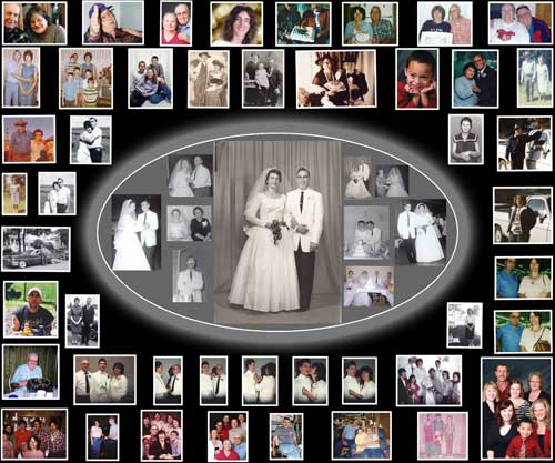 wedding photo collage ideas, anniversary gift for wife, husband, parents