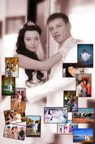 make your wedding photo collage online
