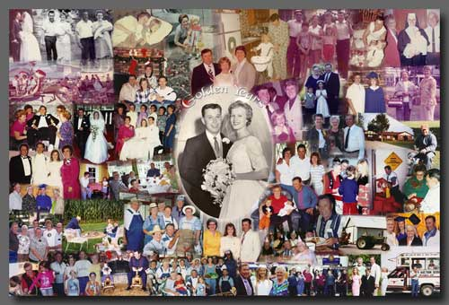 wedding photo collage frame - 50th anniversary collage