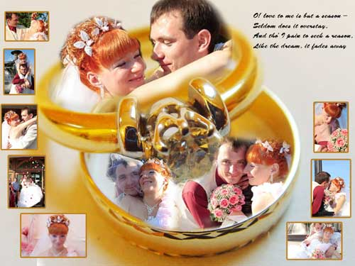 wedding rings photo collage ideas