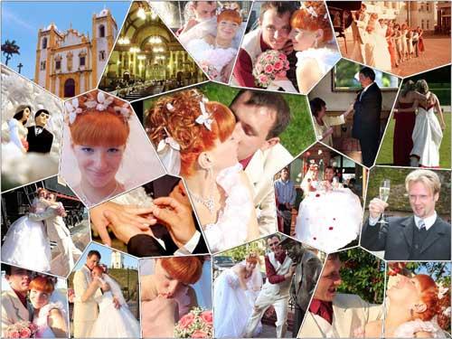 wedding mosaic photo collage design