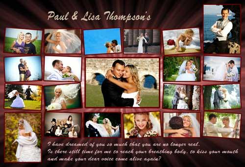 wedding photo collage frames