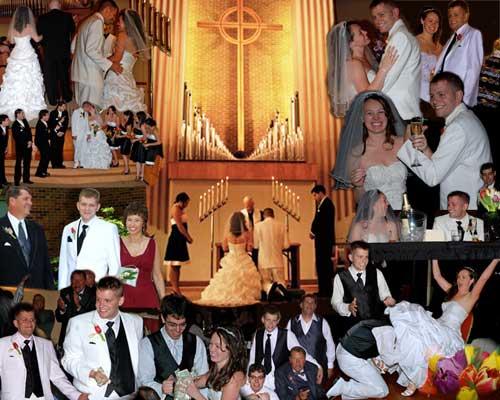 wedding ceremony photo collage ideas