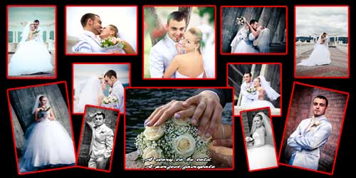 wedding panoramic photo collage frames